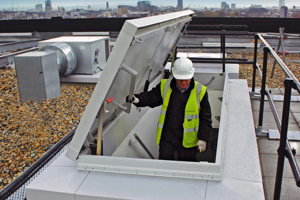 Service stairs roof access hatch from Bilco UK
