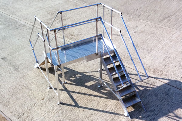 picture of the Bilco aluminium step over ladder