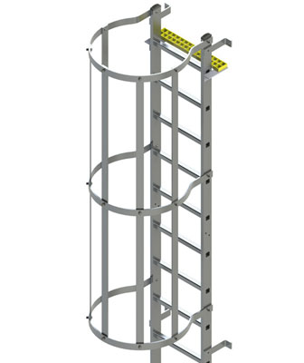 Type BL Fixed Vertical Ladder with Safety CageProduct Image