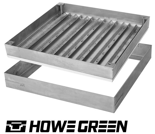 Howe Green 1050 Series heavy duty stainless steel floor access cover product image