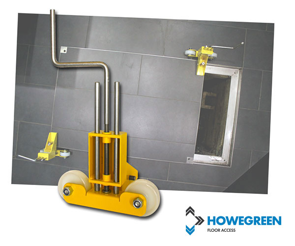 Howe Green floor access cover lifting skate