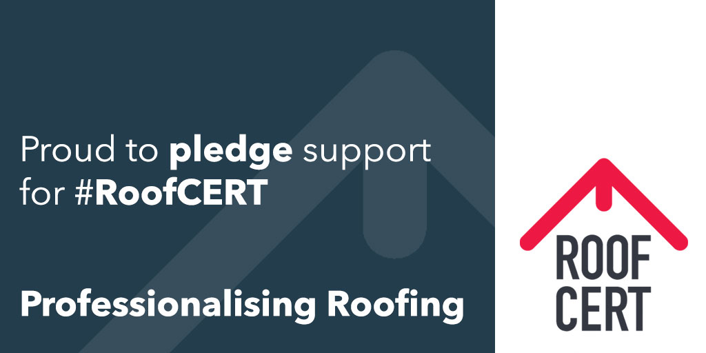 Proud to pledge our support to #roofCERT